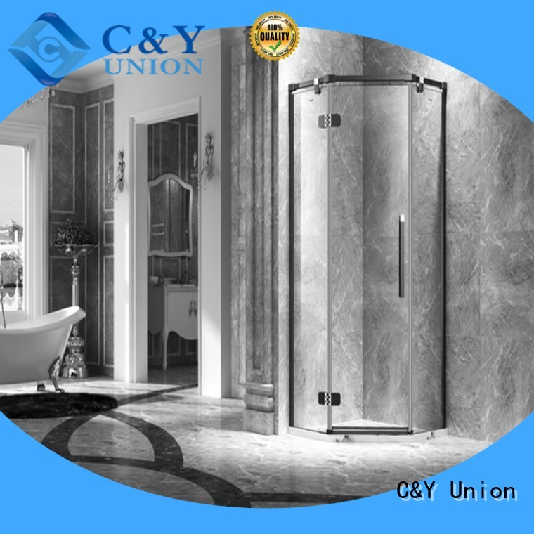 C&Y Union firm frameless shower screen shower screen for bath