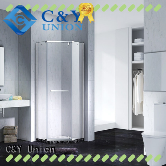 C&Y Union high quality semi frameless shower door shower screen for shower room