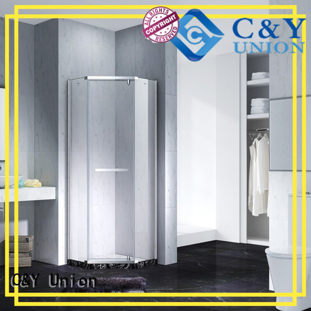C&Y Union high quality frameless glass shower shower screen for bagnio