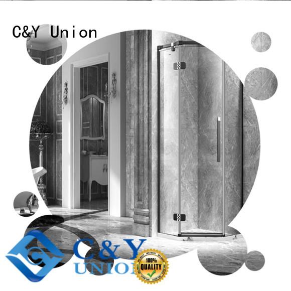 C&Y Union firm frameless glass doors easy clean for bathtub