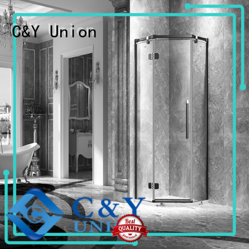 frameless shower screen easy clean for tub C&Y Union