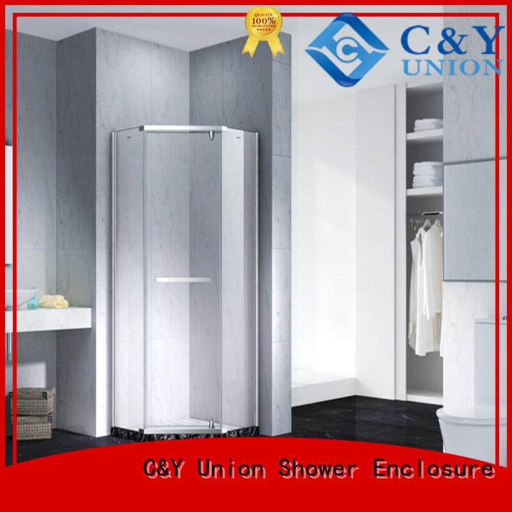 C&Y Union frameless glass shower doors factory for tub
