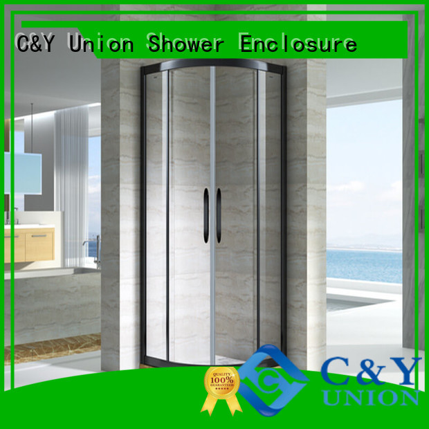 colorful semi framed shower manufacturer for standalone showers