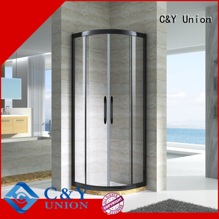 C&Y Union shower cabin with sliding door for bathtub showers
