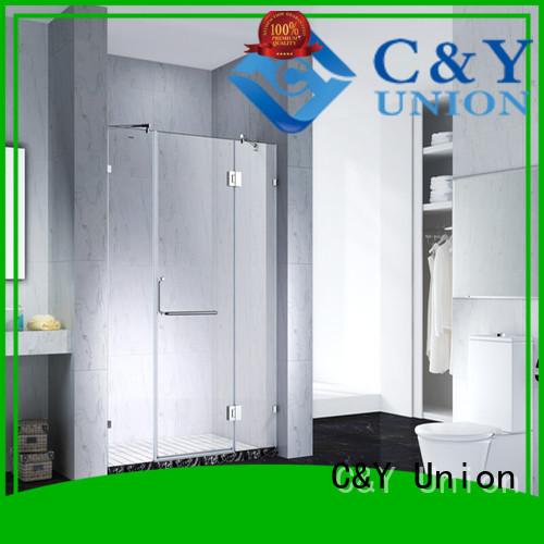 C&Y Union elegant frameless glass shower shower panels for bagnio