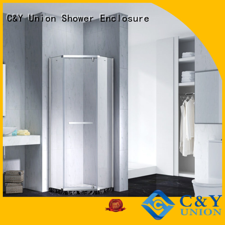 C&Y Union stable semi frameless shower door shower screen for bath