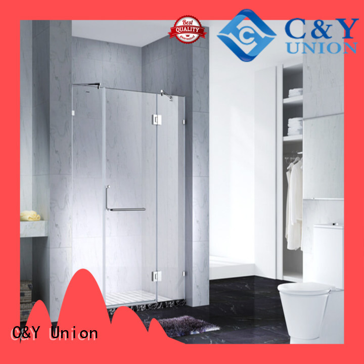 C&Y Union practical semi frameless shower door shower panels for bathroom