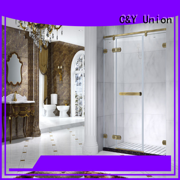 high quality semi frameless shower door cubicles for tub