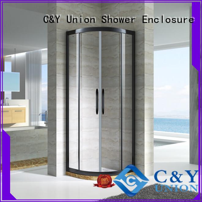 aluminum framed shower glass doors for shower room