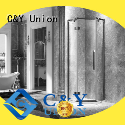 C&Y Union semi frameless shower door cabin for bath