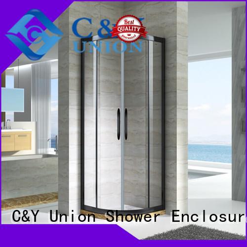 C&Y Union aluminum framed glass shower door manufacturer for bagnio