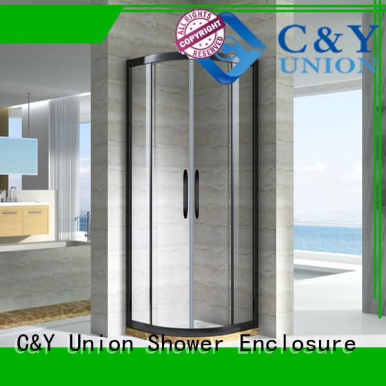 C&Y Union practical custom framed shower doors for corner