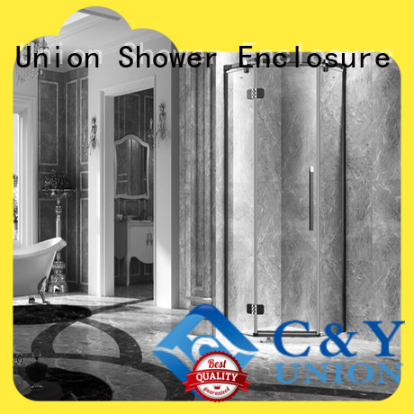 C&Y Union high quality frameless shower screen easy clean for bagnio