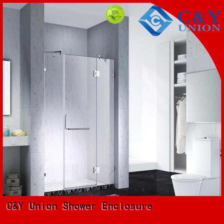 practical semi frameless shower door easy clean for tub