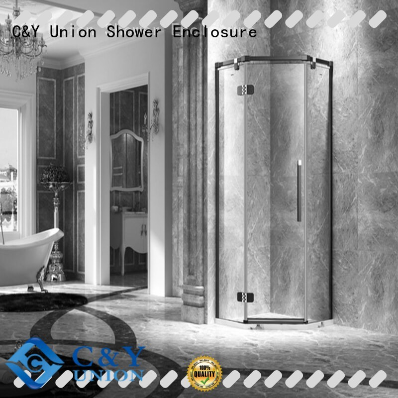 C&Y Union stable glass shower enclosures easy clean for bathtub