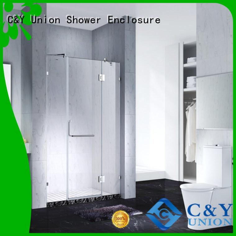 C&Y Union elegant frameless shower screen cabin for bathroom
