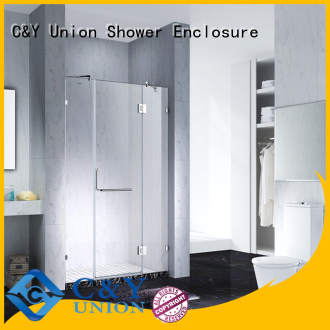 C&Y Union semi frameless shower door for bagnio
