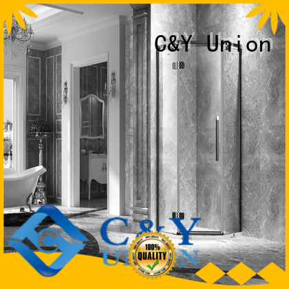C&Y Union semi frameless shower door easy clean for tub