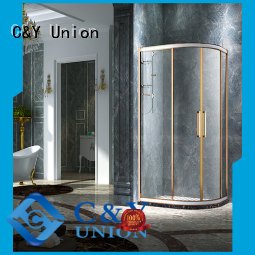 C&Y Union custom framed shower doors with sliding door for standalone showers