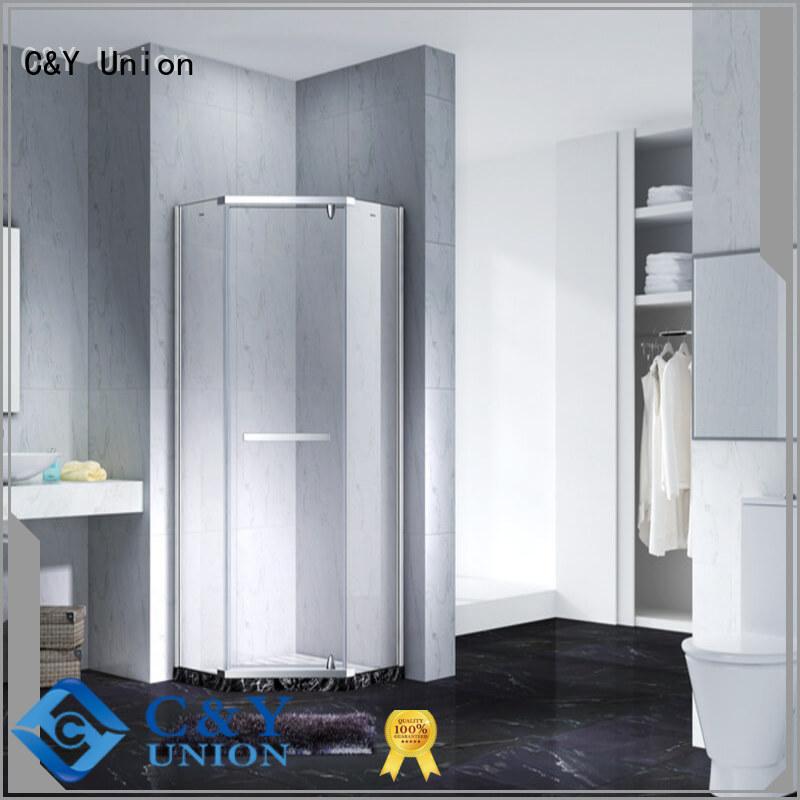 C&Y Union frameless glass shower cabin for bathtub