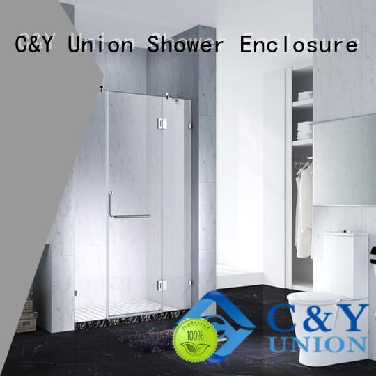 C&Y Union frameless glass shower factory for bathtub