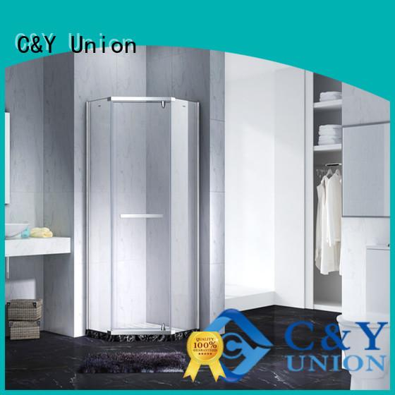 C&Y Union frameless glass shower doors shower panels for shower room