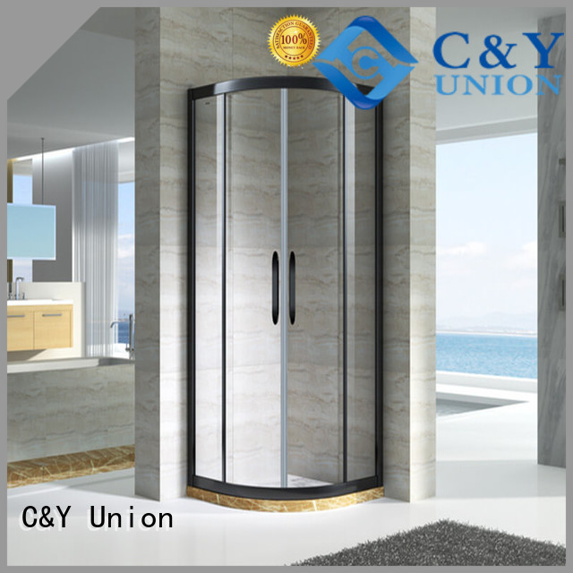 C&Y Union elegant framed glass shower enclosure for tub for standalone showers