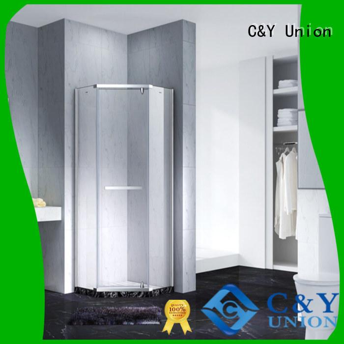 C&Y Union semi frameless shower door cubicles for bathtub