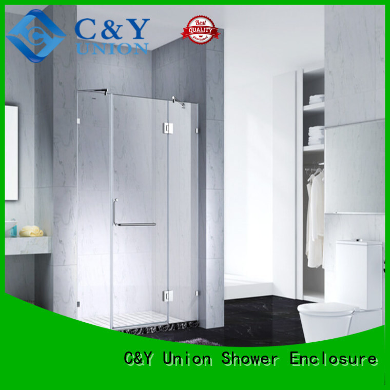 C&Y Union frameless shower easy clean for bathtub