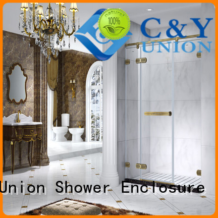 C&Y Union practical frameless glass shower doors for bagnio