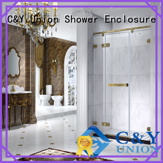 C&Y Union elegant semi frameless shower door cabin for shower room