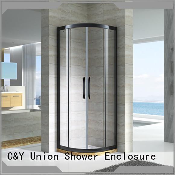 C&Y Union elegant framed glass shower door for sale for bathtub showers