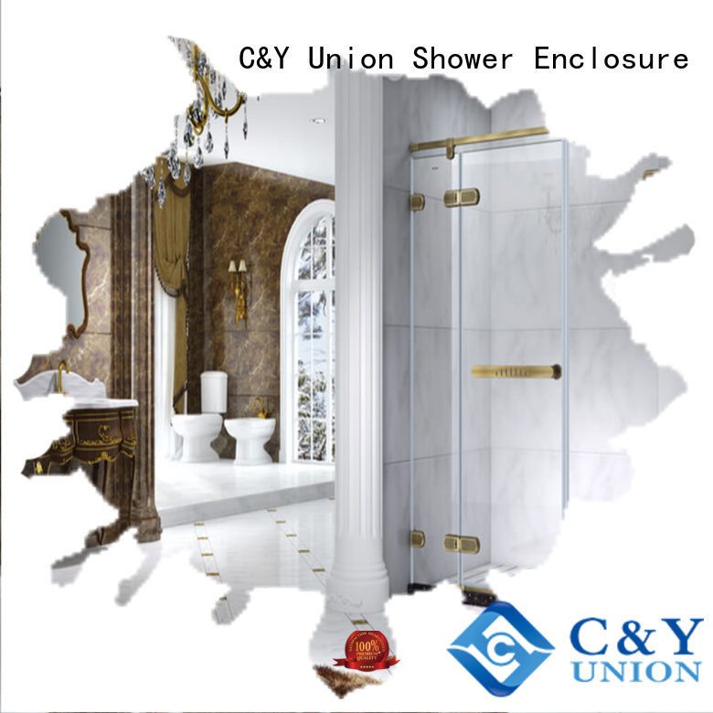 C&Y Union semi frameless shower door cubicles for bagnio