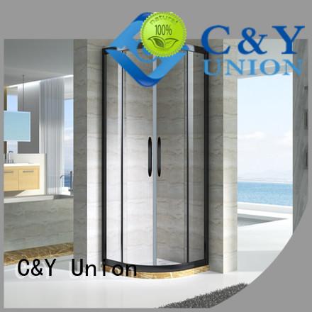 C&Y Union popular framed glass shower enclosure for tub for shower room