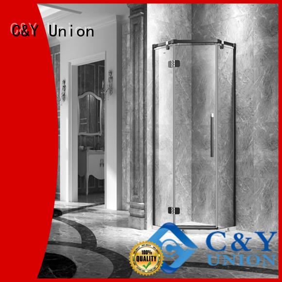 practical frameless glass shower doors easy clean for bathroom