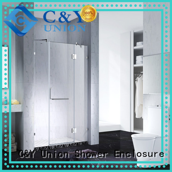 C&Y Union high quality frameless sliding glass doors for tub