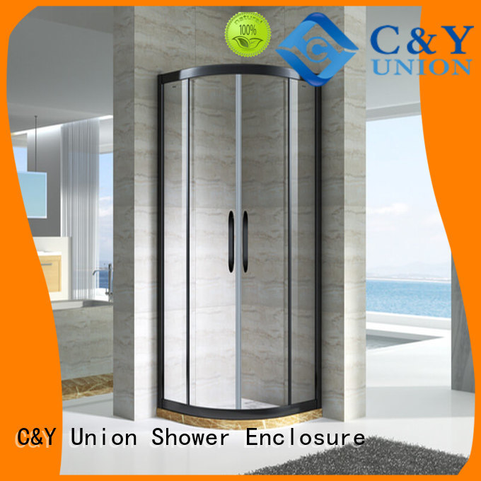 C&Y Union practical semi framed shower door for tub for shower room