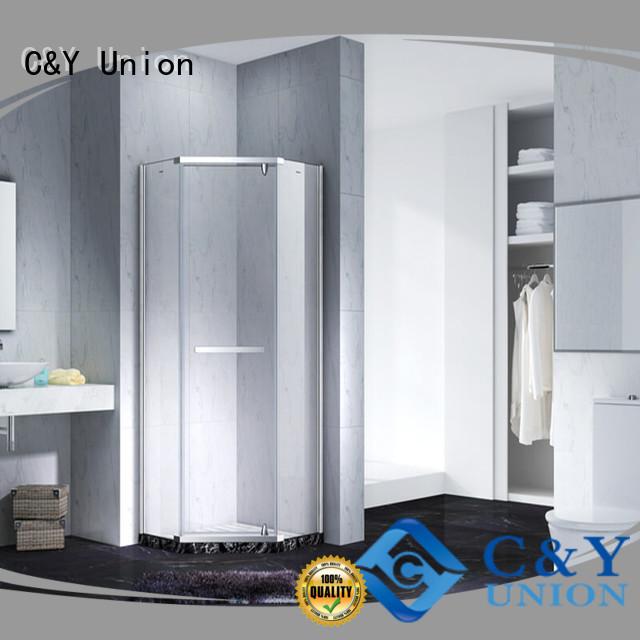 C&Y Union frameless shower for bathroom