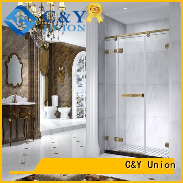 C&Y Union frameless glass shower for shower room