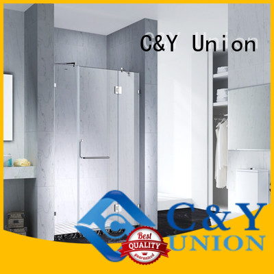 C&Y Union firm semi frameless shower door shower screen for bagnio