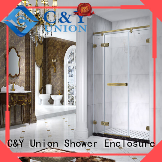 C&Y Union frameless shower enclosure for bath