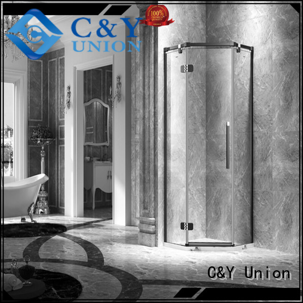 C&Y Union high quality frameless shower screen shower panels for shower room
