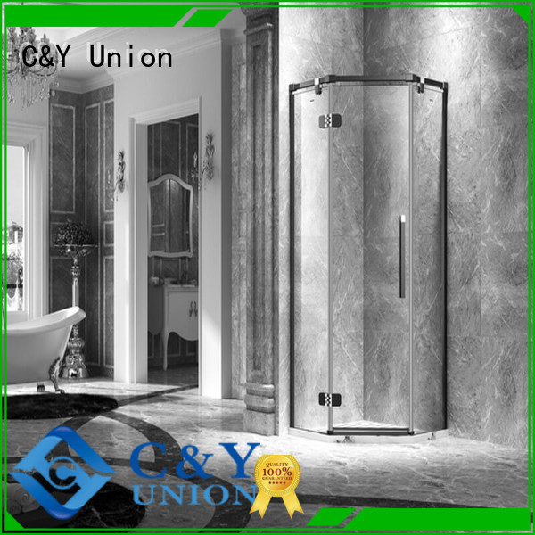 C&Y Union frameless shower screen easy clean for bagnio