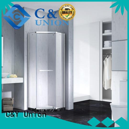 C&Y Union frameless glass doors shower panels for tub