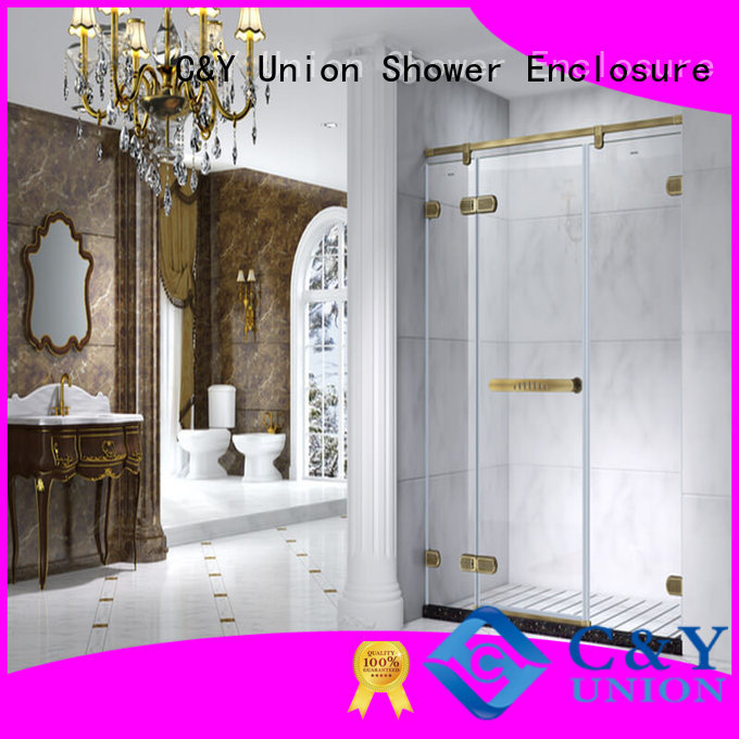 C&Y Union firm semi frameless shower door factory for bath