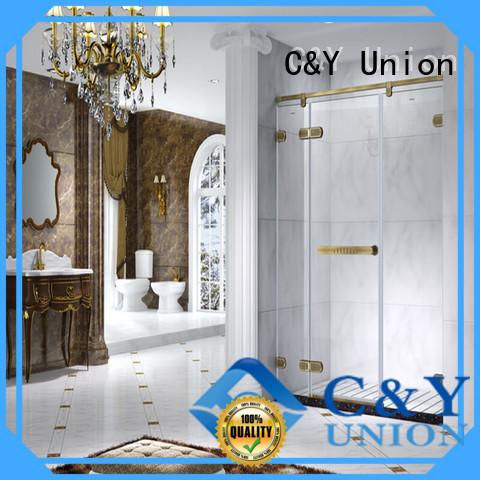C&Y Union door frameless sliding glass shower doors for shower room