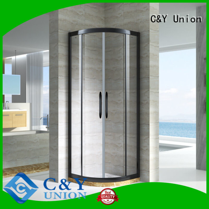 C&Y Union framed glass shower door for tub for bagnio