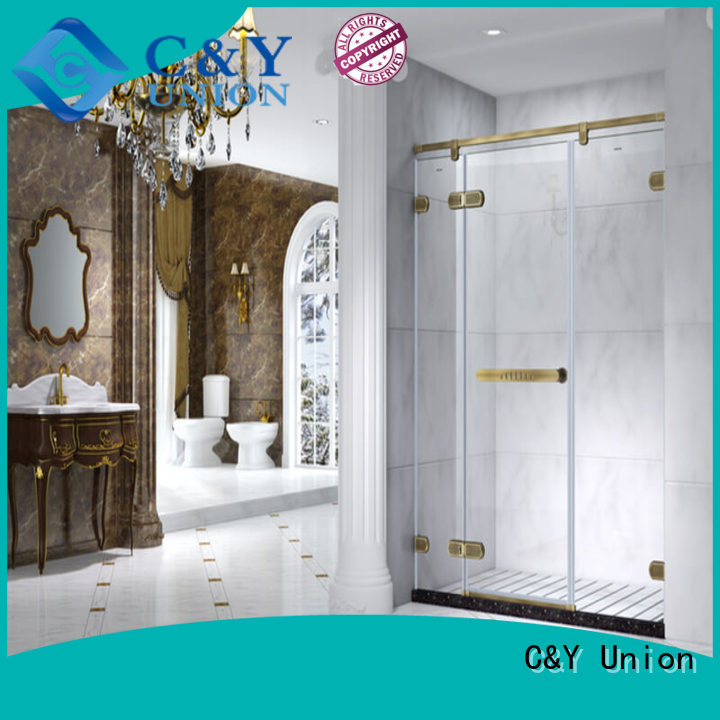 C&Y Union frameless shower enclosure factory for bathtub
