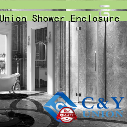 C&Y Union practical frameless glass shower cubicles for shower room