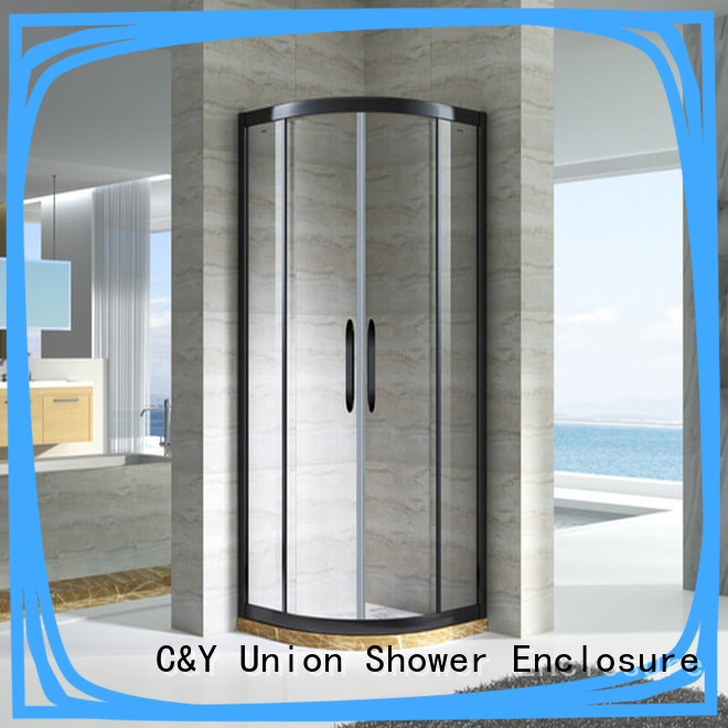 chrome framed shower door framed for bathroom C&Y Union